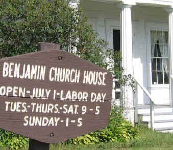 Benjamin-Church-House-Sign.jpg (17791 bytes)