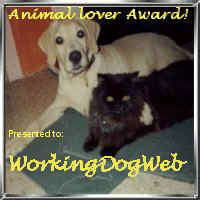 Award to WorkingDogWeb.com